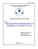 Tiểu luận: Ứng dụng phần mềm kế toán và internet của công ty Vi na