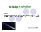 Thuyết trình: Thị trường cho vay Việt Nam