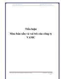 Tiểu luận: Mua bán nợ xấu và vai trò của công ty VAMC