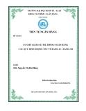 Tiểu luận: Cơ chế giám sát hệ thống ngân hàng các quy định trọng yếu về Basel II – Basel III