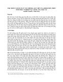 Việc phân cấp quản lý tài chính & quy mô của chính phủ: phân tích thực nghiệm tại 1 quốc gia Châu Âu - Aurélie Cassette