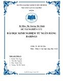 Tiểu luận: Bài học kinh nghiệm từ ngân hàng Barings