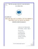 Tiểu luận: Mối liên hệ giữa sự phân cấp tài chính và nợ công tại các quốc gia Oecd