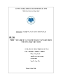Tiểu luận: Phát triển dịch vụ thanh toán của ngân hàng thương mại Việt Nam