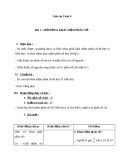 Giáo án Số học 6 chương 3 bài 1: Mở rộng khái niệm phân số