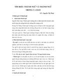 Tìm hiểu thành ngữ và thành ngữ trong ca dao - GV Nguyễn Thị Thủy