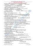 Đề cương ôn tập môn Sinh học khối 12