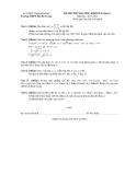 Đề thi thử Đại học lần 1 môn Toán khối B, D (2014) - Trường THPT Hai Bà Trưng