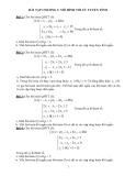 Bài tập Mô hình tối ưu tuyến tính