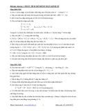 Bài tập Phân tích mô hình toán kinh tế - Lê Anh Đức