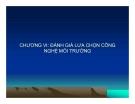 Bài giảng Công nghệ môi trường: Chương 6 - GS.TS Đặng kim Chi
