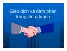 Bài giảng Giao dịch và đàm phán trong kinh doanh: Chương 2 - PGS.TS Nguyễn Thị Xuân Hương