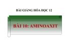 Bài giảng Hóa học 12 bài 10: Amino axit