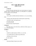 Giáo án Hóa học 12 bài 14: Vật liệu về polime