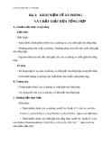 Giáo án Hóa học 12 bài 3: Khái niệm về xà phòng và chất giặt rửa tổng hợp