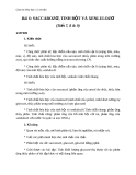 Giáo án Hóa học 12 bài 6: Saccarozơ, tinh bột, xenlulozơ