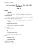 Giáo án Hóa học 12 bài 7: Luyện tập - cấu tạo và tính chất của cacbohiđrat