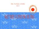 Bài giảng TNXH 2 bài 32:  Mặt trời và phương hướng