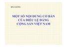 Bài giảng Một số nội dung cơ bản của điều lệ Đảng Cộng sản Việt Nam