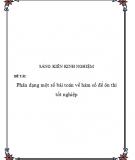 SKKN: Phân dạng một số bài Toán về hàm số để ôn thi tốt nghiệp