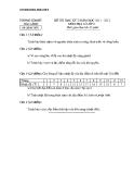 Đề thi HK2 Địa 6 (2011 – 2012) – Phòng GD&ĐT Hải Lăng – (Kèm Đ.án)