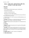 Giáo án Hóa học 12 bài 16: Thực hành Một số tính chất của protein và vật liệu của polime
