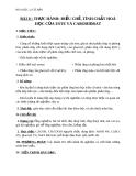 Giáo án Hóa học 12 bài 8: Thực hành Điều chế tính chất hóa học của este và cacbonhiđrat