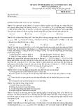 Đề KSCL ôn thi Đại học môn Vật lí lần 1 (2013-2014) khối A,A1 - Mã đề 132