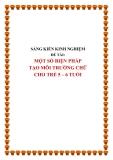 SKKN: Một số biện pháp tạo môi trường chữ cho trẻ 5 - 6 tuổi