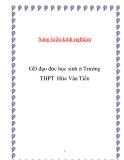 SKKN: GD đạo đức học sinh ở Trường THPT Hứa Văn Tiến