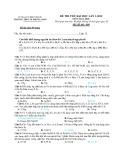 Đề thi thử ĐH môn Hóa học - THPT TX Phước Long lần 2 năm 2012 đề 404