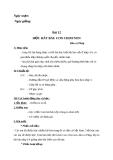 Giáo án bài 12: Học hát: Con chim non - Âm nhạc 3 - GV:Bích Huân