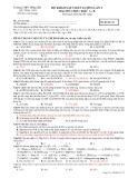 Đề thi KSCL ĐH môn Hóa học - THPT Hồng lĩnh lần 1 đề 132