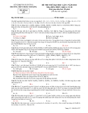 Đề thi thử ĐH môn Hóa học - THPT Đoàn Thượng lần 1 năm 2012 đề 357