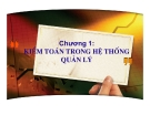 Bài giảng môn Lý thuyết kiểm toán: Chương 1