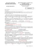 Đề thi thử ĐH-CĐ lần 2 môn Hóa khối A, B (2013-2014) - THPT Đinh Chương Dương - Mã đề 135 (Kèm Đ.án)