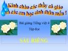 Bài Tập đọc: Sầu riêng - Bài giảng điện tử Tiếng việt 4 - GV.N.Phương Hà