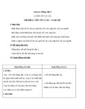 Giáo án Tiếng Việt 4 tuần 12 bài: Luyện từ và câu - Mở rộng vốn từ: Ý chí - Nghị lực