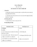 Giáo án Tiếng Việt 4 tuần 14 bài: Tập làm văn - Cấu tạo bài văn miêu tả đồ vật