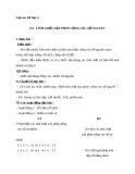 Giáo án Số học 6 chương 2 bài 6: Tính chất của phép cộng các số nguyên