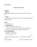 Giáo án Số học 6 chương 3 bài 7: Phép cộng phân số