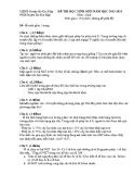Đề thi học sinh giỏi Sinh 9 - (Kèm Đ.án)