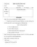 Đề kiểm tra 1 tiết Ngữ văn 6 (Kèm đáp án)