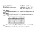 Đề kiểm tra HK1 Địa 12  - (Kèm Đ.án)