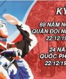 Đề cương tuyên truyền Kỷ niệm ngày thành lập Quân đội Nhân dân Việt Nam