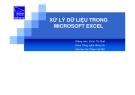 Bài giảng Xử lý dữ liệu trong Microsoft Excel - Đoàn Thị Quế