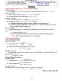 Tổng hợp đề thi học kì 1 môn Toán lớp 10 năm 2012-2013 - Trường THPT Chuyên Nguyễn Quang Diệu