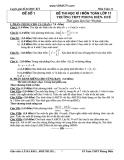 Tổng hợp đề thi học kì 1 môn Toán lớp 11 - Trường THPT Phong Điền Huế