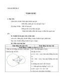 Giáo án Hình học 6 chương 2 bài 9: Tam giác