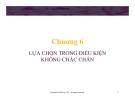 Bài giảng Lý thuyết kinh tế học vi mô: Chương 6 - GV. Đinh Thiện Đức
